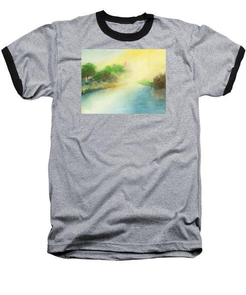 River Morning Baseball T-Shirt by Frank Bright