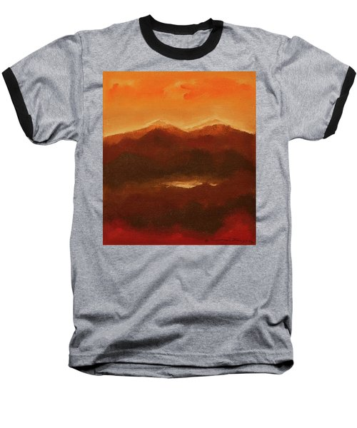 River Mountain View Baseball T-Shirt