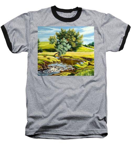 River Of Life Baseball T-Shirt by Karen Showell