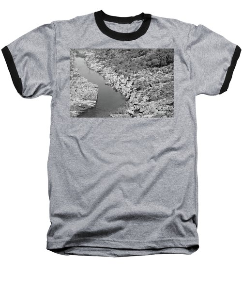 River On The Rocks. Bw Version Baseball T-Shirt