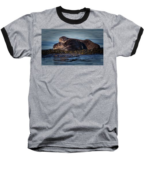River Otters Baseball T-Shirt by Randy Hall