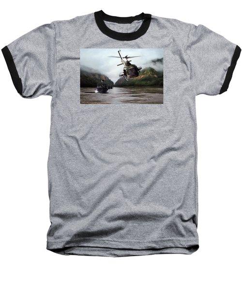 River Patrol Baseball T-Shirt by Peter Chilelli