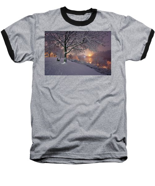 Baseball T-Shirt featuring the photograph River Road  by Emmanuel Panagiotakis