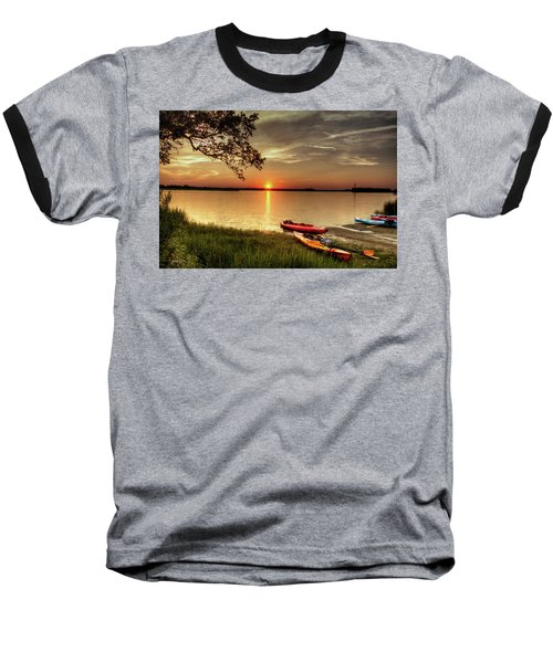 Baseball T-Shirt featuring the photograph River Road Park Never Disappoints by Phil Mancuso