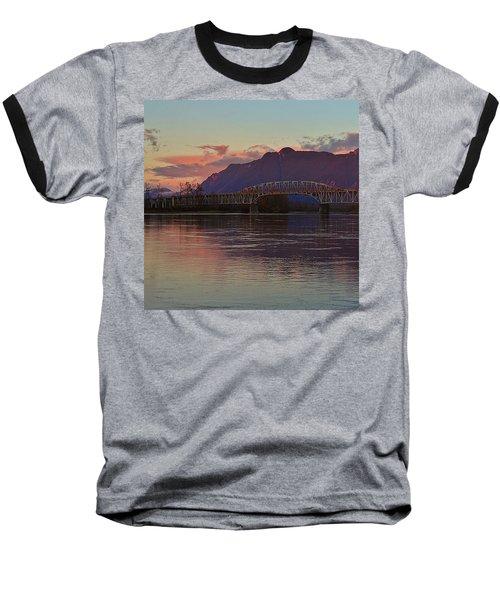 Fraser River, British Columbia Baseball T-Shirt by Heather Vopni