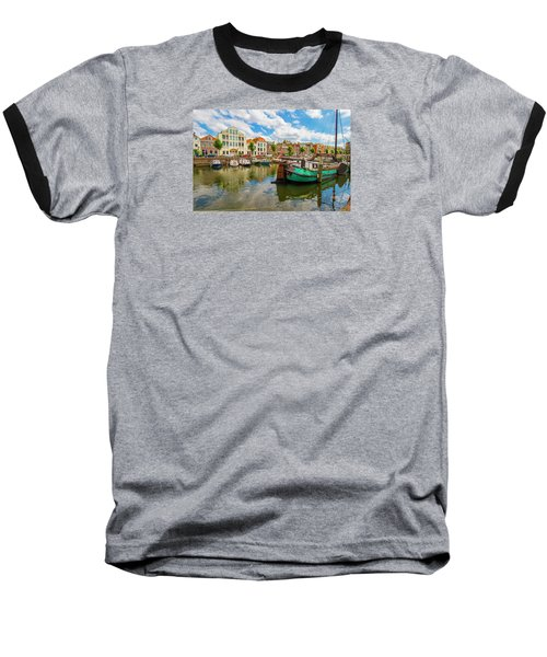 River Scene In Rotterdam Baseball T-Shirt