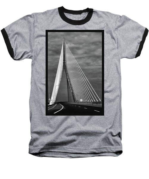 Baseball T-Shirt featuring the photograph River Suir Bridge. by Terence Davis