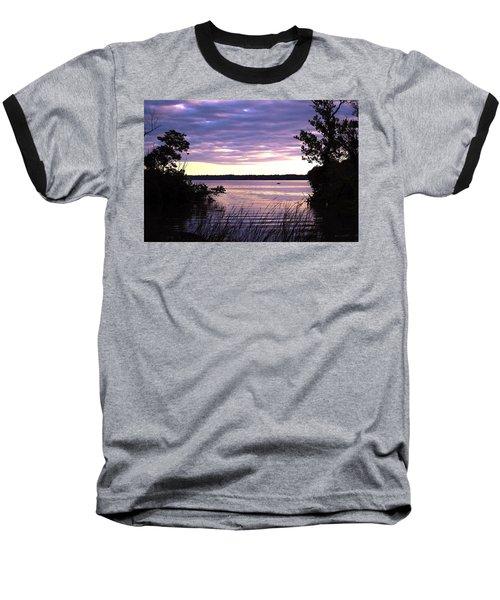 River Sunrise Baseball T-Shirt