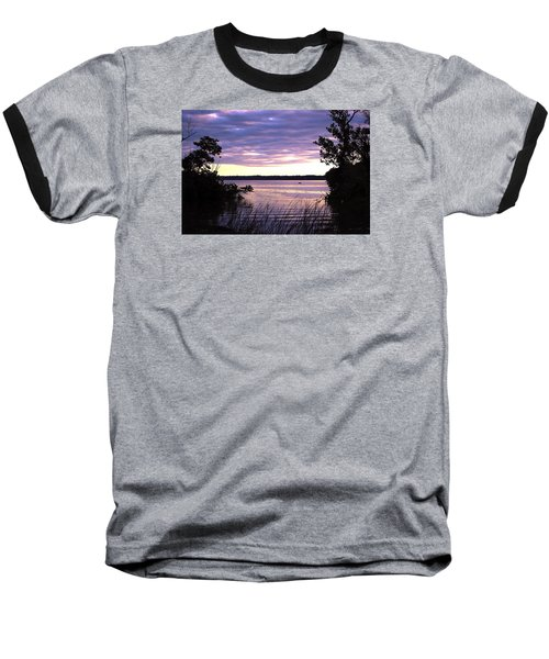 River Sunrise Baseball T-Shirt