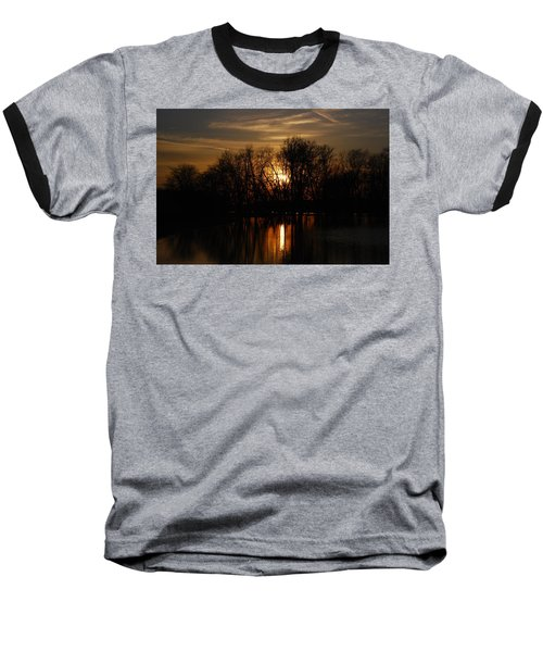 River Sunset Baseball T-Shirt