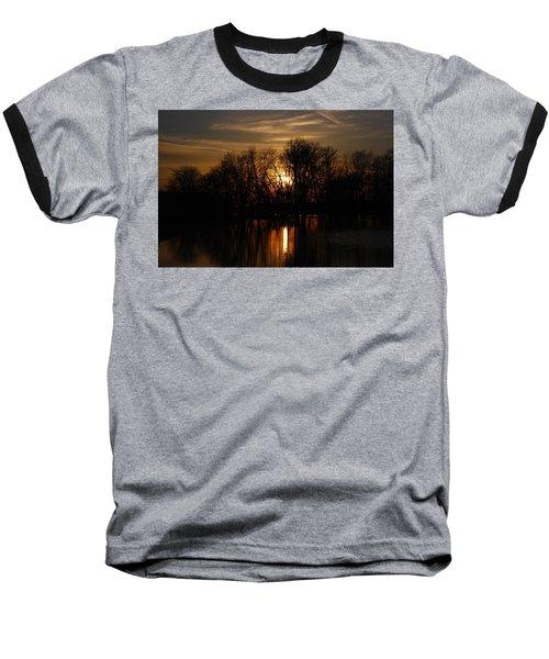 River Sunset Baseball T-Shirt