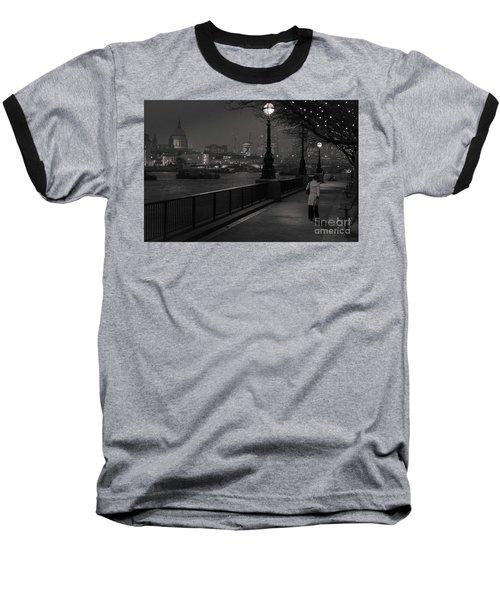 River Thames Embankment, London Baseball T-Shirt