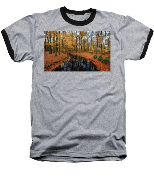 River Through Autumn Baseball T-Shirt