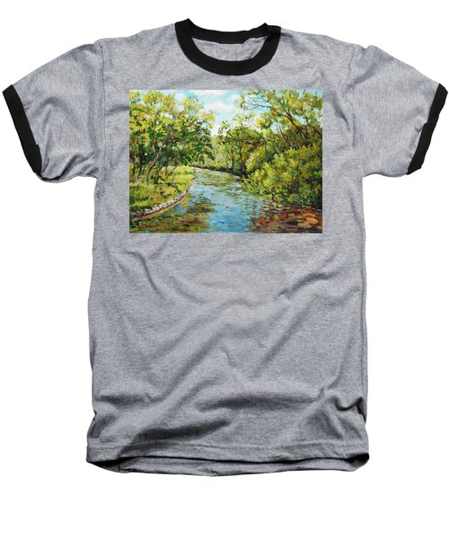 River Through The Forest Baseball T-Shirt