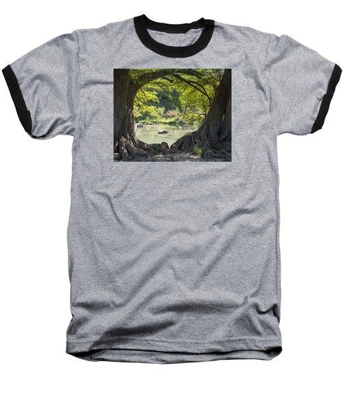 River Through Trees Baseball T-Shirt
