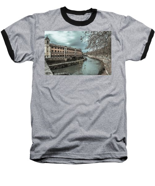 Baseball T-Shirt featuring the photograph River Tiber by Sergey Simanovsky