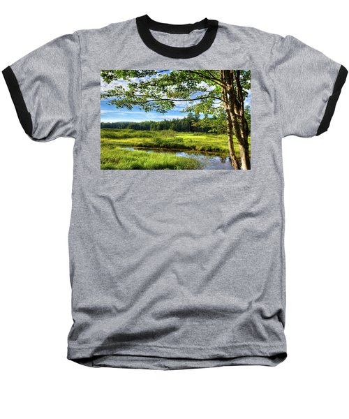 Baseball T-Shirt featuring the photograph River Under The Maple Tree by David Patterson