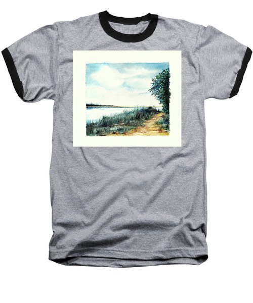 River Walk Baseball T-Shirt by Heidi Kriel