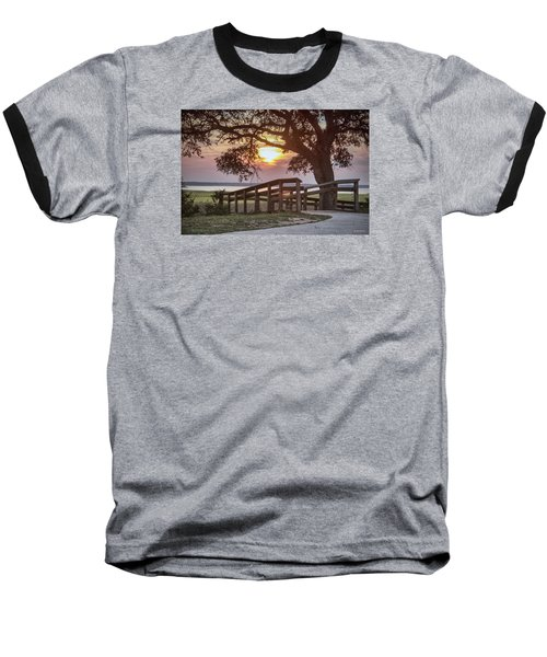 Baseball T-Shirt featuring the digital art River Walk by Phil Mancuso