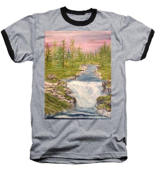 River With Falls Baseball T-Shirt
