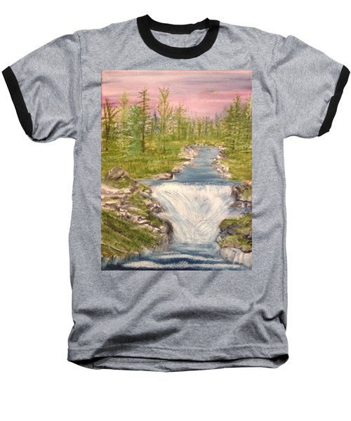 River With Falls Baseball T-Shirt