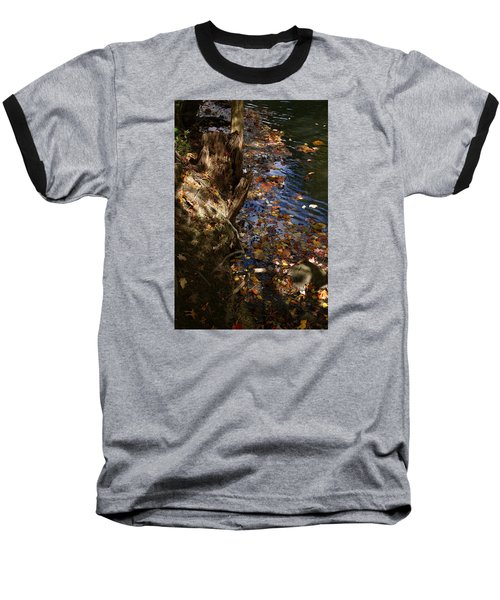 Riverbank View Baseball T-Shirt by Margie Avellino