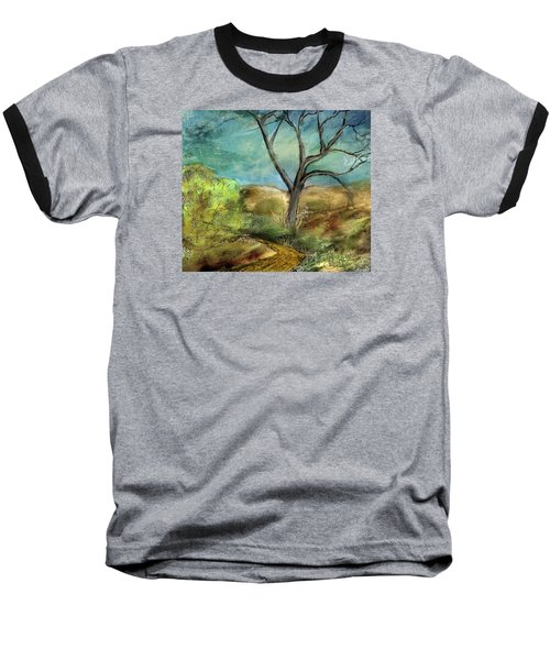 Baseball T-Shirt featuring the painting Riverbed  by Annette Berglund