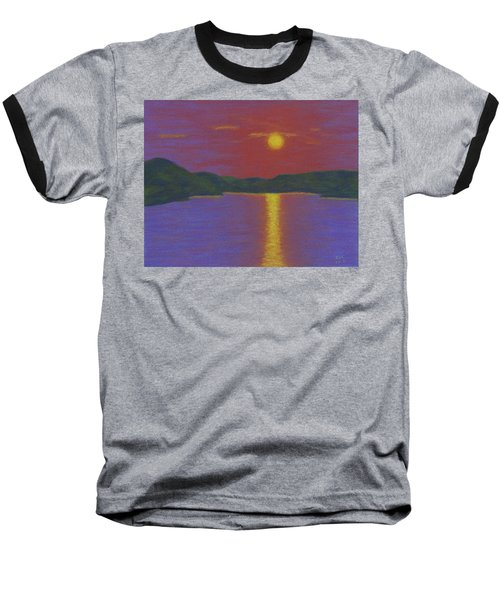 Riverboat Sunset Baseball T-Shirt