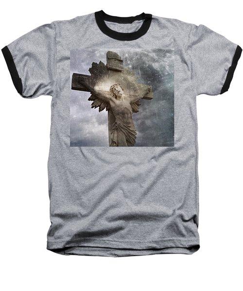 Riverside Cemetery Cross Baseball T-Shirt