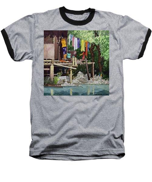 Riverside House And It's Laundry Baseball T-Shirt