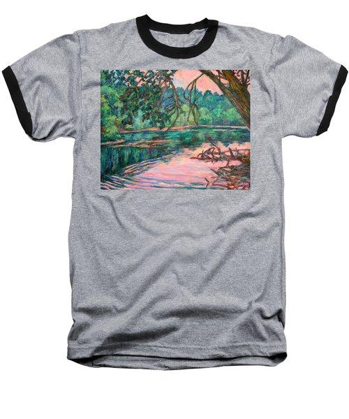 Riverview At Dusk Baseball T-Shirt