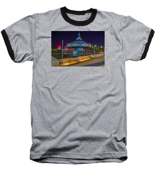 Riverwalk Carousel  Baseball T-Shirt
