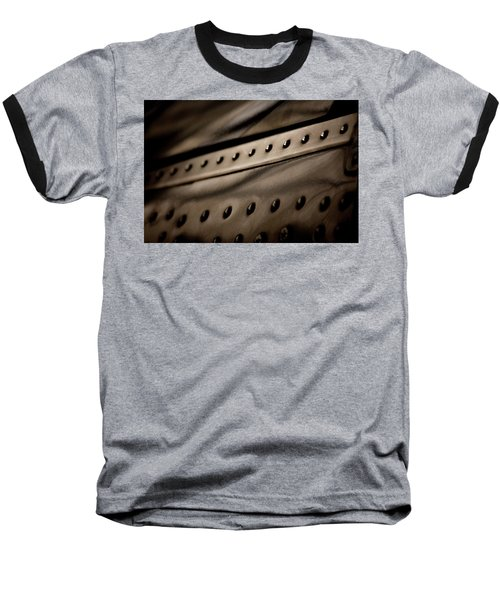 Baseball T-Shirt featuring the photograph Rivets by Paul Job