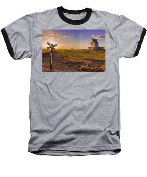 End Of The Day On The Montana Hi Line Baseball T-Shirt
