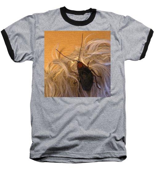 Roach Hair Clip Baseball T-Shirt by Roger Swezey