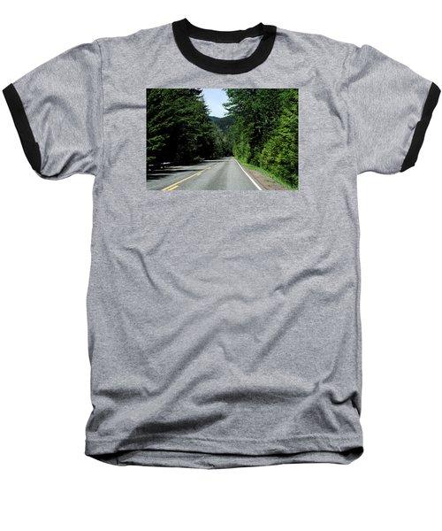Road Among The Trees Baseball T-Shirt by John Rossman