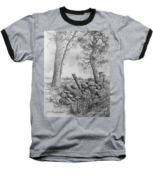 Baseball T-Shirt featuring the drawing Road Home by Jim Hubbard