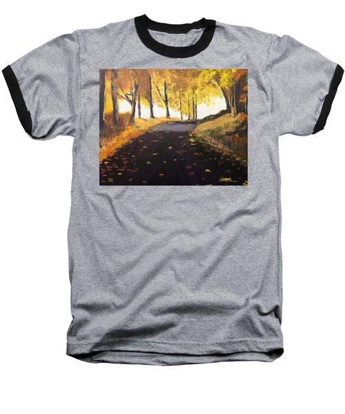 Road In Autumn Baseball T-Shirt