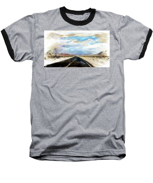 Baseball T-Shirt featuring the digital art Road In The Desert by Robert Smith
