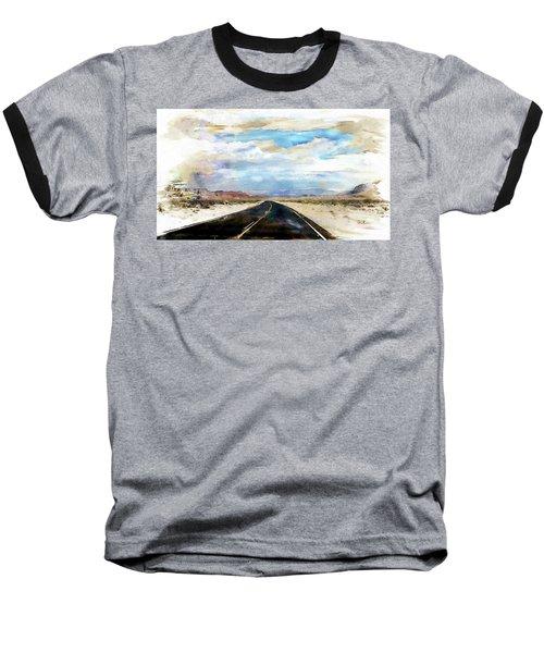 Road In The Desert Baseball T-Shirt by Robert Smith