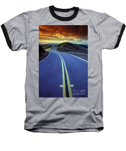 Road In The Mountains Baseball T-Shirt