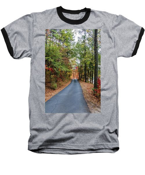 Road In The Woods Baseball T-Shirt
