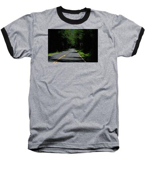 Road Leading To Where? Baseball T-Shirt by John Rossman