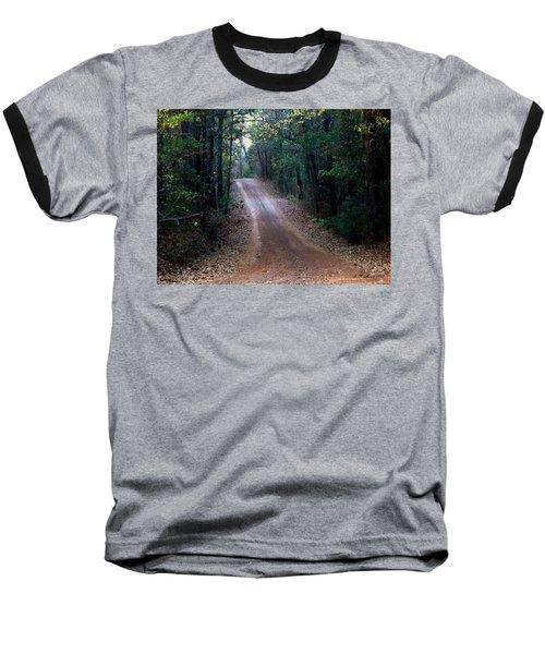 Baseball T-Shirt featuring the photograph Road Not Taken by Betty Northcutt