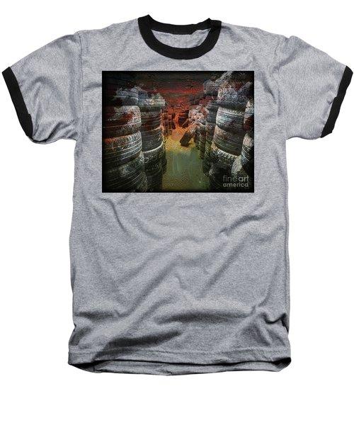 Road Rash Baseball T-Shirt by Deborah Nakano