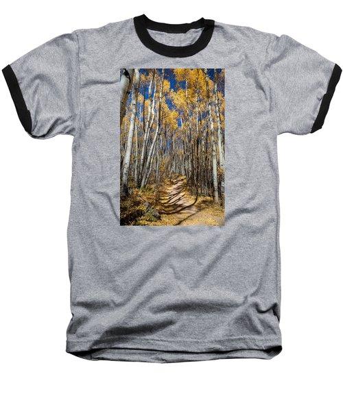 Road Through Aspens Baseball T-Shirt by Michael J Bauer