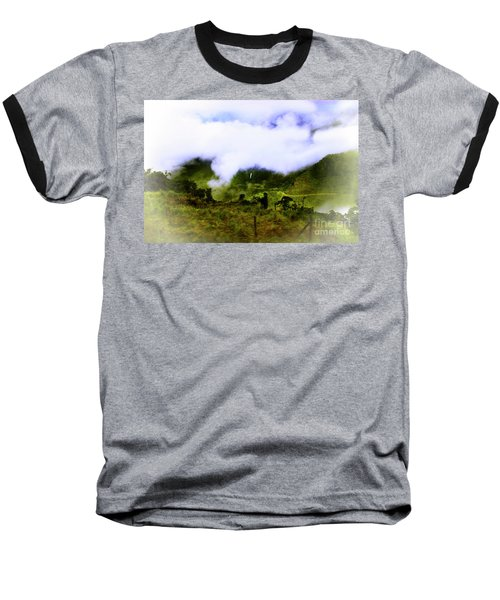 Baseball T-Shirt featuring the photograph Road Through The Andes by Al Bourassa