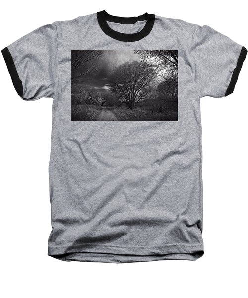 Road Through The Cottonwoods Baseball T-Shirt