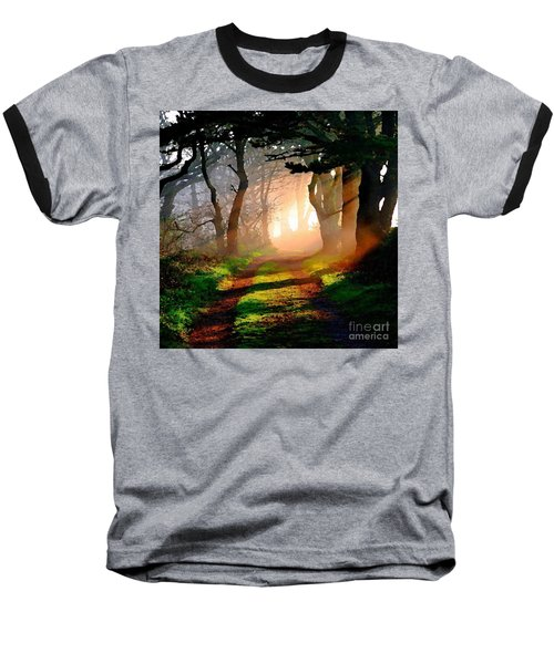 Road Through The Woods Baseball T-Shirt