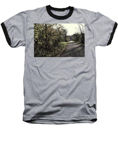 Road To Covered Bridge Baseball T-Shirt